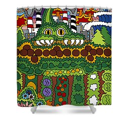 The Other Side Of The Garden  Shower Curtain by Rojax Art