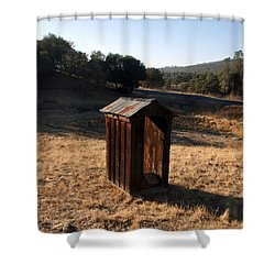 The Outhouse Shower Curtain by Richard Reeve