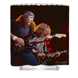The Outlaws - Hughie Thomasson And Billy Jones Shower Curtain by Daniel Larsen