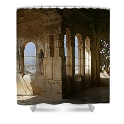 The Outlook For The Weekend Shower Curtain by A Rey
