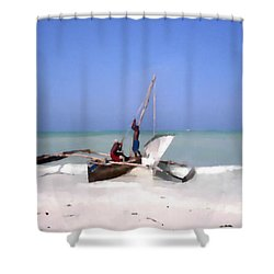 The Outrigger Shower Curtain