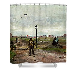 The Outskirts Of Paris Shower Curtain by Vincent van Gogh