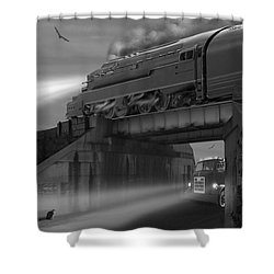 The Overpass Shower Curtain