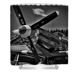 The P-51 Speedball Alice Mustang Shower Curtain by David Patterson