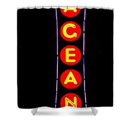 The Pageant In Neon Shower Curtain