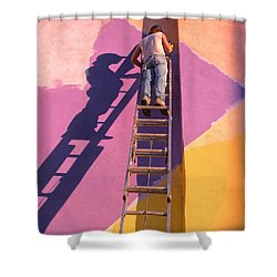 The Painter Shower Curtain by Don Spenner