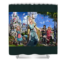 Shower Curtain featuring the painting The Palace Garden  by Reynold Jay