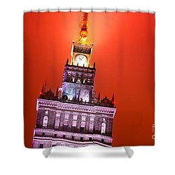 The Palace Of Culture And Science Warsaw Poland  Shower Curtain by Michal Bednarek
