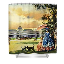 The Palace Of The Tuileries Shower Curtain by Andrew Howat