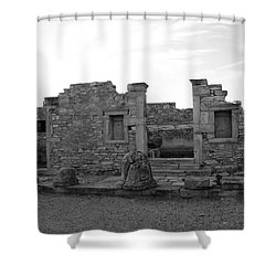 The Palaestra- Apollo Sanctuary  Shower Curtain by Augusta Stylianou
