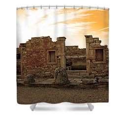 The Palaestra -kourion-apollo Shower Curtain by Augusta Stylianou
