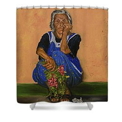 The Parga Flower Seller Shower Curtain