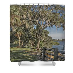 Shower Curtain featuring the photograph The Park by Jane Luxton