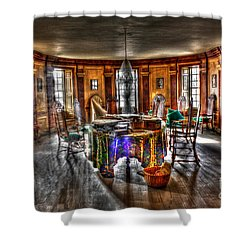 The Parlor Visit Shower Curtain