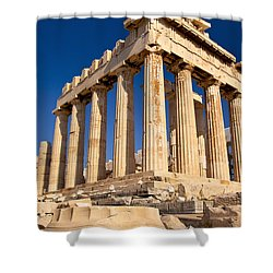 The Parthenon Shower Curtain by Brian Jannsen