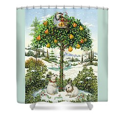 The Partridge In A Pear Tree Shower Curtain