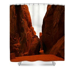 The Path To San Dune Falls Shower Curtain by Jeff Swan