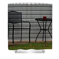 The Patio In Living Color Shower Curtain by Rob Hans