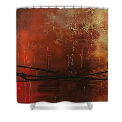 The Pause Shower Curtain by Carmen Guedez
