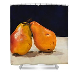 The Pearfect Pair Shower Curtain