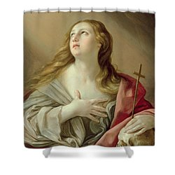The Penitent Magdalene Shower Curtain by Guido Reni