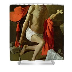 The Penitent St Jerome  Shower Curtain by Georges de la Tour