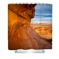 The Perch Shower Curtain by Inge Johnsson
