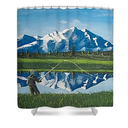 The Perfect Cast Shower Curtain by Norm Starks