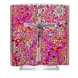 Shower Curtain featuring the mixed media The Perfect Sacrifice  by Ray Tapajna