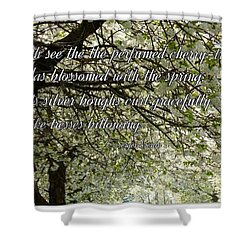 The Perfumed Cherry Tree 1 Shower Curtain