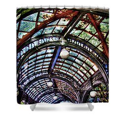 The Pergola Ceiling In Pioneer Square Shower Curtain by David Patterson