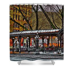 The Pergola In Pioneer Square - Seattle  Shower Curtain by David Patterson
