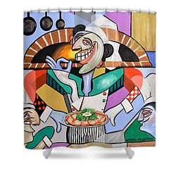 The Personal Size Gourmet Pizza Shower Curtain