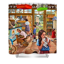 The Pet Shop Shower Curtain by Steve Crisp
