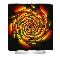 Shower Curtain featuring the drawing The Phi Stargate by Derek Gedney