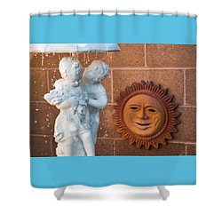 The Phoenician Lovers Shower Curtain