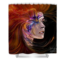 The Phoenix  Fire Flames And Rebirth Shower Curtain