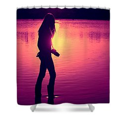 The Photographer Shower Curtain by Laura Fasulo