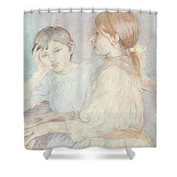 The Piano Shower Curtain by Berthe Morisot
