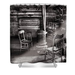 The Piano Room Shower Curtain by Ken Smith