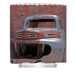 The Pick Up Shower Curtain by Lynn Sprowl