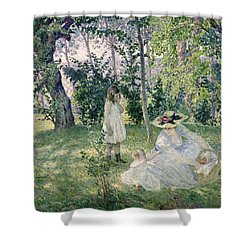 The Picnic Shower Curtain by Henri Lebasque