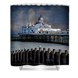 The Pier At Eastbourne Shower Curtain by Chris Lord