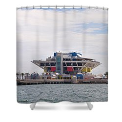 The Pier At St Petersburg Shower Curtain by Bill Cannon