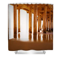 The Pier Shower Curtain by Heidi Smith