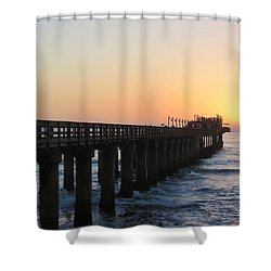 Shower Curtain featuring the photograph The Pier by Ramona Johnston