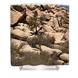 The Pile Is Home Shower Curtain by Amanda Barcon