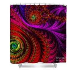 The Pink Feathers Shower Curtain by Mary Machare