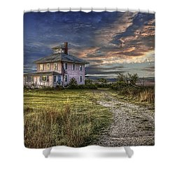 The Pink House - Color Shower Curtain