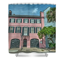 The Pink House Shower Curtain